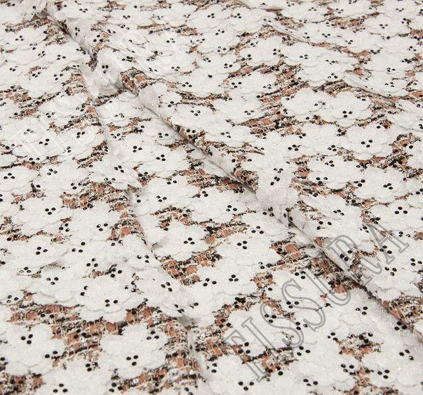 Floral Appliqued Tweed Boucle #3