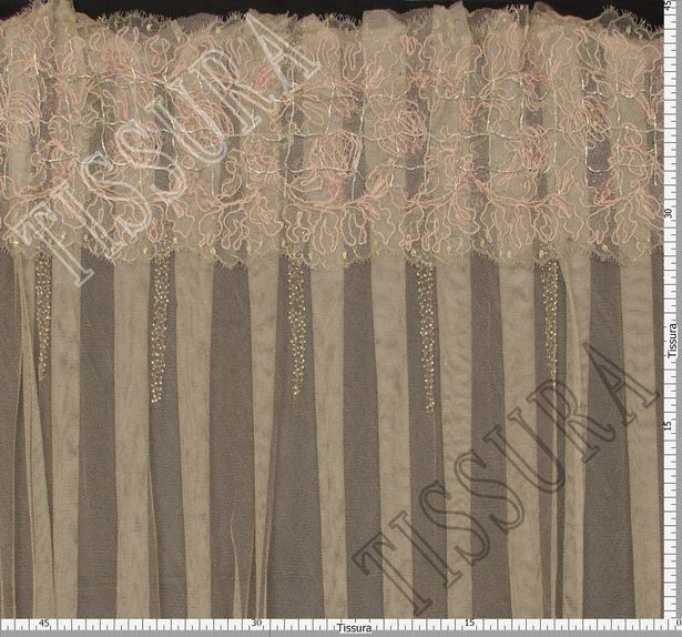 Embroidered Pleated Tulle #2