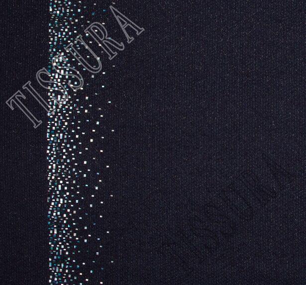 Foil Appliqued Wool Boucle #1