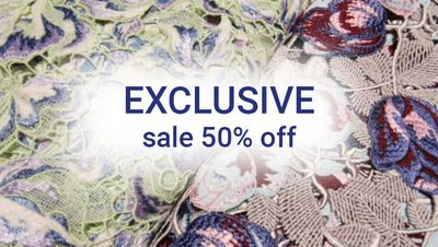 50% Off on Exclusive Fabrics Forster Rohner AG