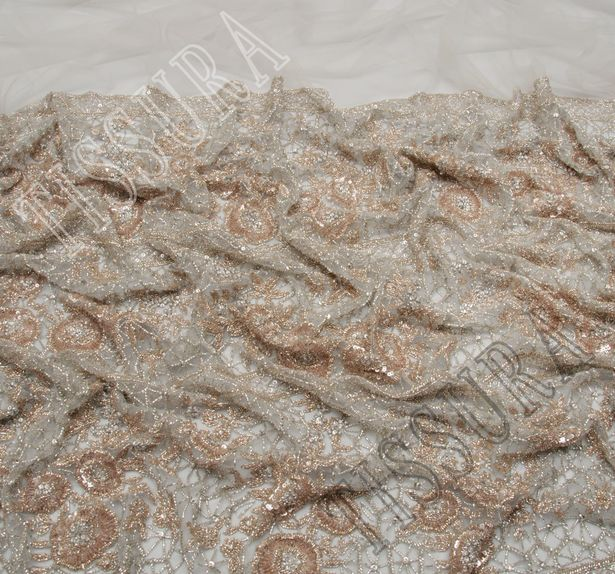 Sequined & Beaded Tulle #4
