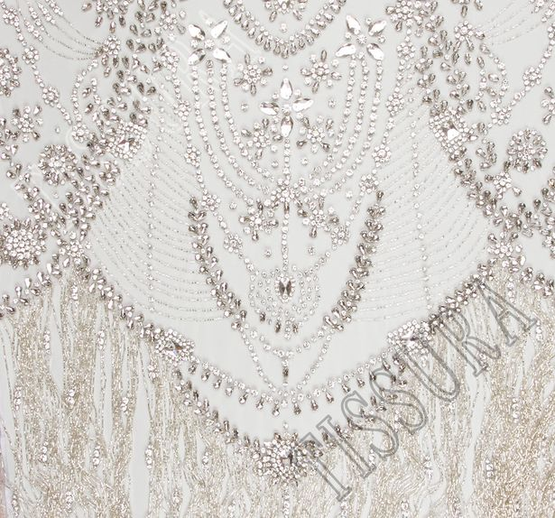 Embroidered Fringed Tulle #1