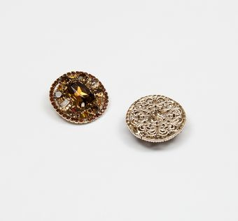 Rhinestone Button #1