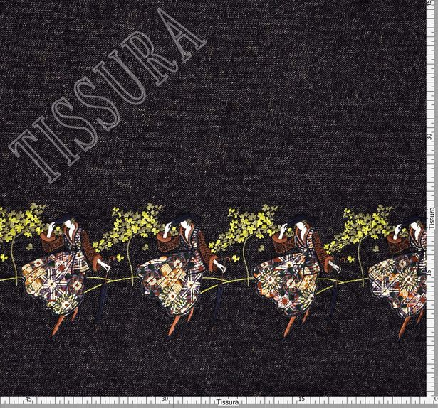 Embroidered Alpaca Tweed #2