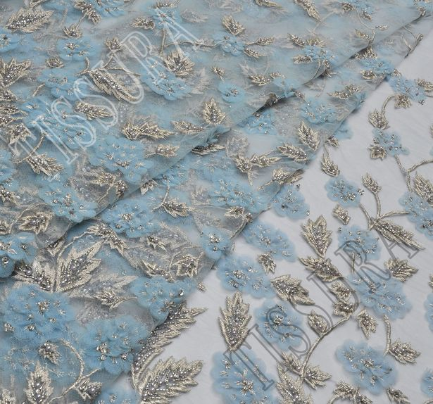 Embroidered Beaded Tulle #3
