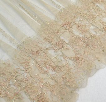 Embroidered Pleated Tulle #1