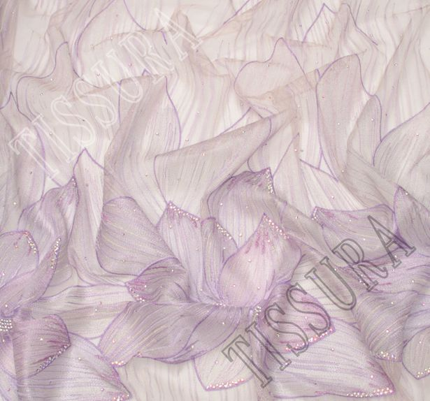 Embroidered Tulle with Swarovski Crystals #4