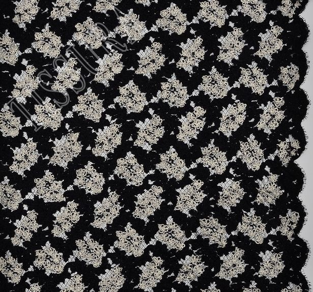 Embroidered Corded Lace #3