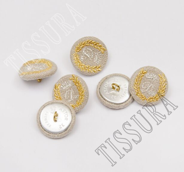 Embroidered Fabric Buttons #3