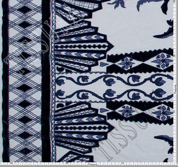 Velvet Applique Embroidered Tulle  #2