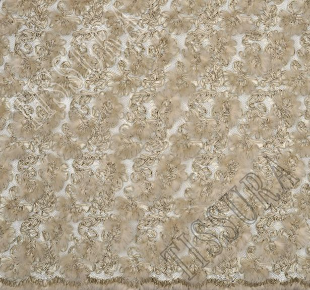 Ribbon & Feather Embroidered Lace #2