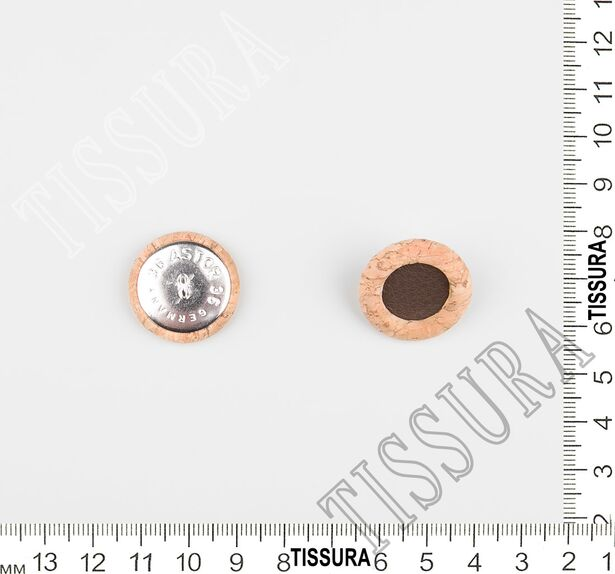 Cork Wood & Leather Buttons #2