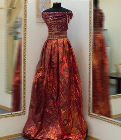 taffeta evening dress