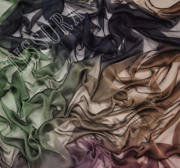 Rainbow Ombre Silk Chiffon #1