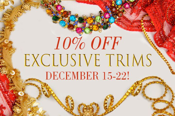10% off discount on trims
