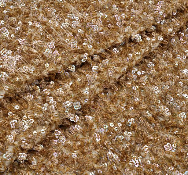 Sequined Wool Gauze #1
