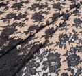 Lace Appliqued Boucle Fabric #1