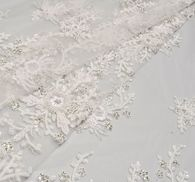 Sequin & Bead Embroidered Tulle #1