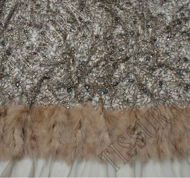 Feather Beaded Tulle #4