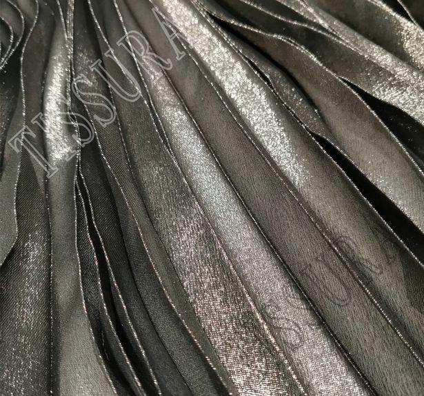 Pleated Silk Georgette Lamé #4