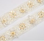 Beaded Chantilly Lace Trim