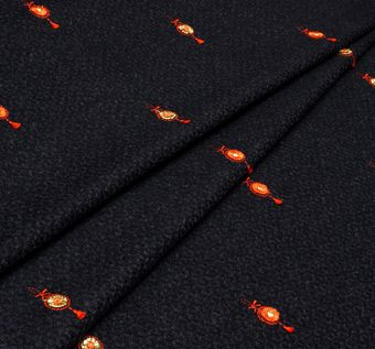 Embroidered Wool Jacquard #1