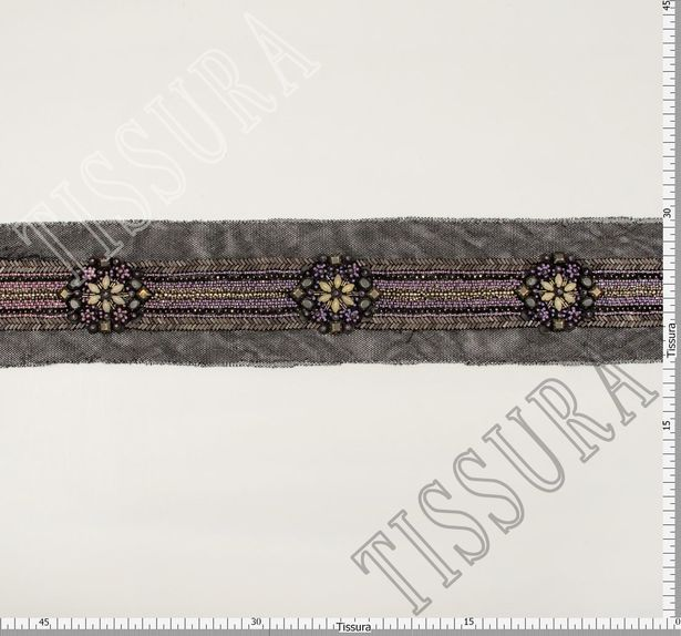 Embroidered Copper Patch Trim #2