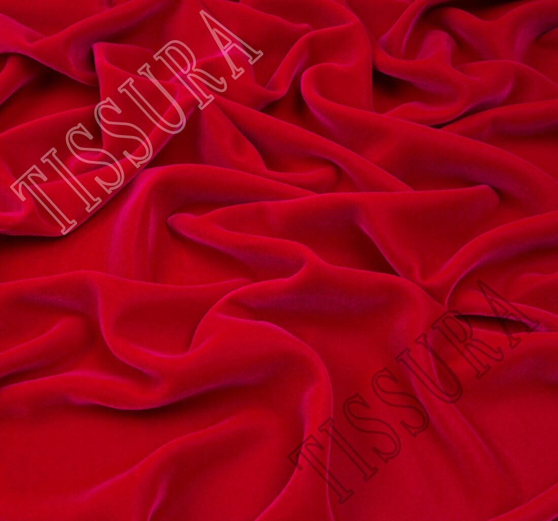 Red Velvet Fabric Fabrics From France By Bouton Renaud Sku 00070383 At 281 Buy Luxury Fabrics Online