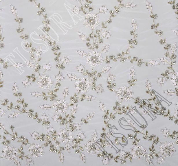 Swarovski Embroidered Tulle #1