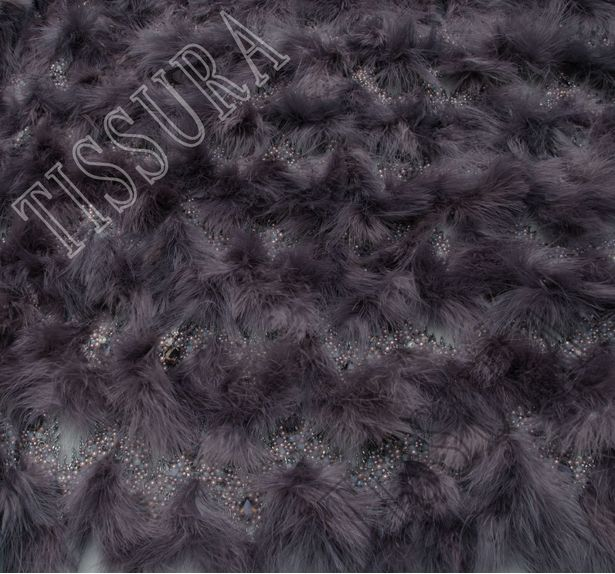 Feather Bead Embroidered Tulle #4