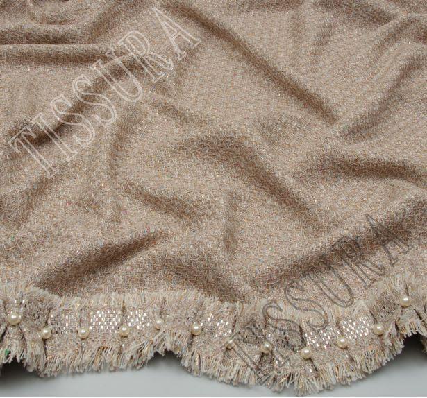 Bead & Foil Appliqued Tweed Boucle  #4