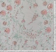 Embroidered Sequined Tulle #2