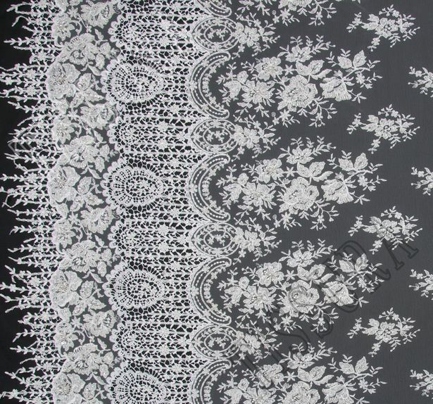 Embroidered Tulle Lace #3