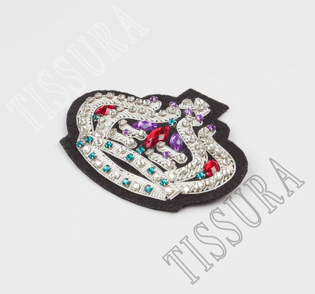 Rhinestone Embroidered Patch #3