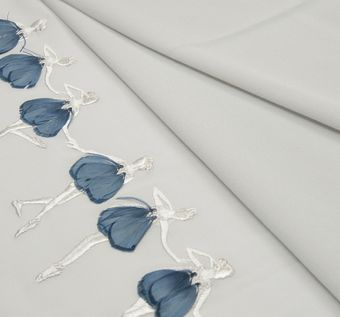 Embroidered Silk Georgette #1