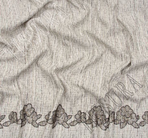 Lace Appliqued Tweed Boucle #4