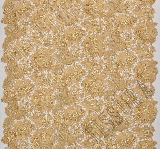 Golden Guipure Lace #1