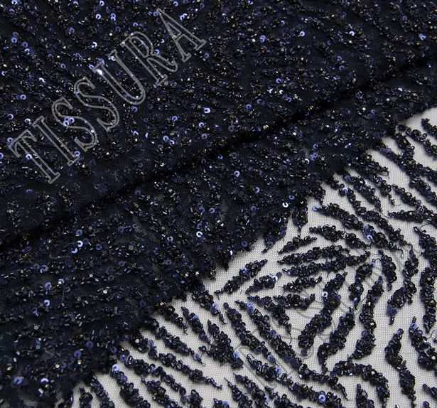 Zebra Style Embroidered Tulle #4