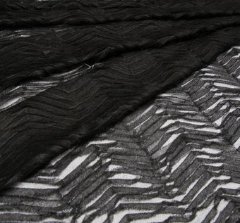 Zigzag Embroidered Tulle #1