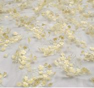 Floral Applique Embroidered Tulle