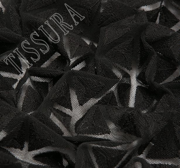 Triangle Embroidered Tulle #3