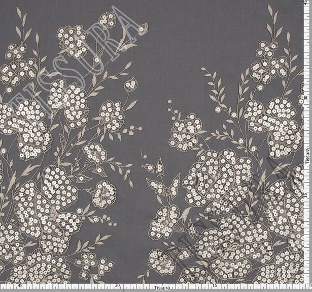 Sequined Embroidered Organza #2