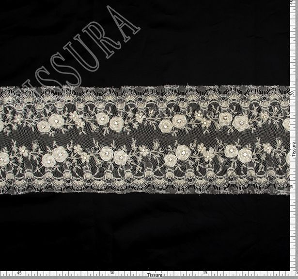 Rhinestone Applique Lace Trim  #2