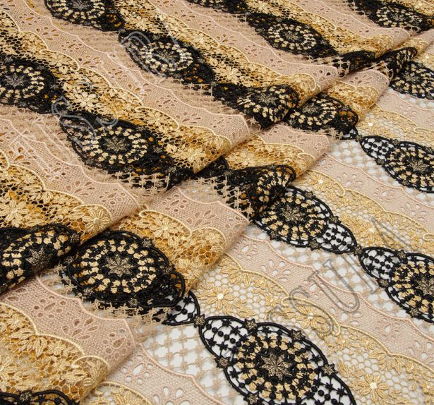 Metallic Guipure Lace #1
