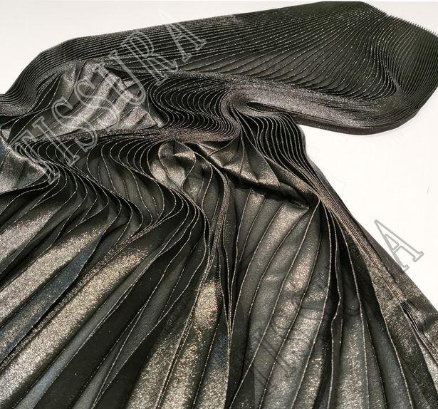 Pleated Silk Georgette Lamé #1