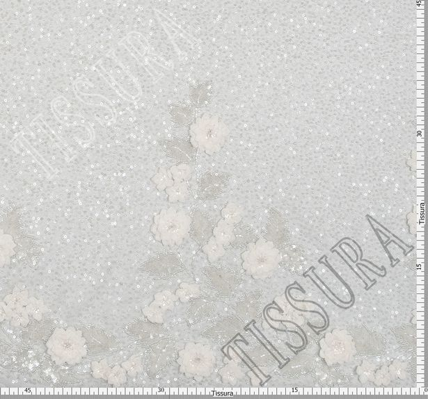 Floral Applique Embroidered Tulle #2