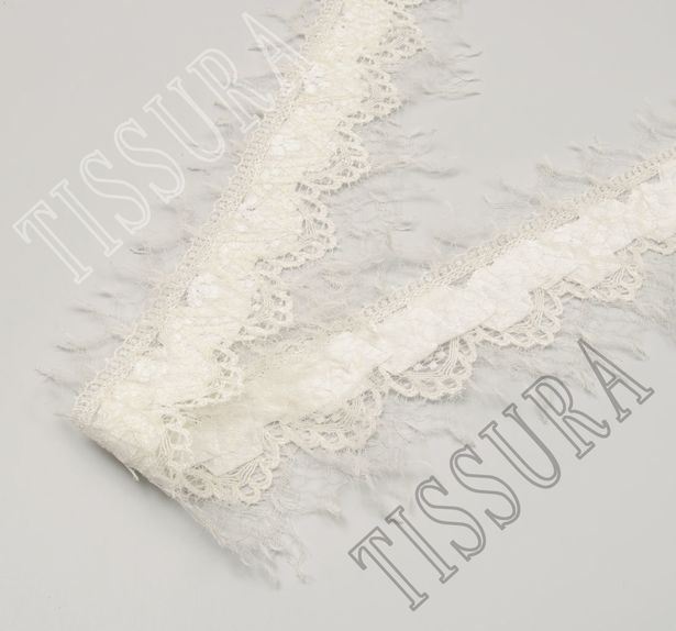 Pleated Chantilly Lace Trim #3