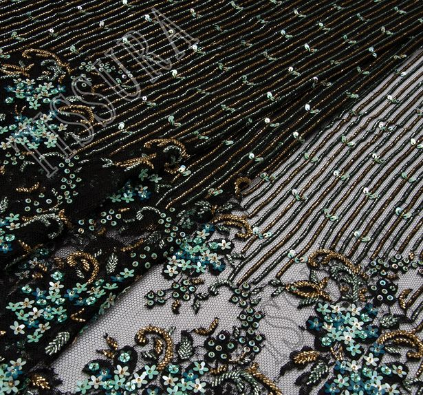 Sequined & Beaded Lace #4