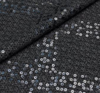 Sequined Wool Knit #1