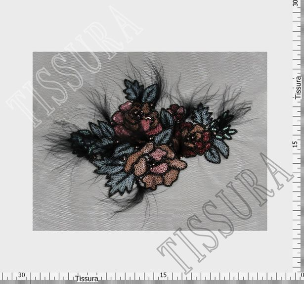 Sequin, Bead & Feather Patch #2